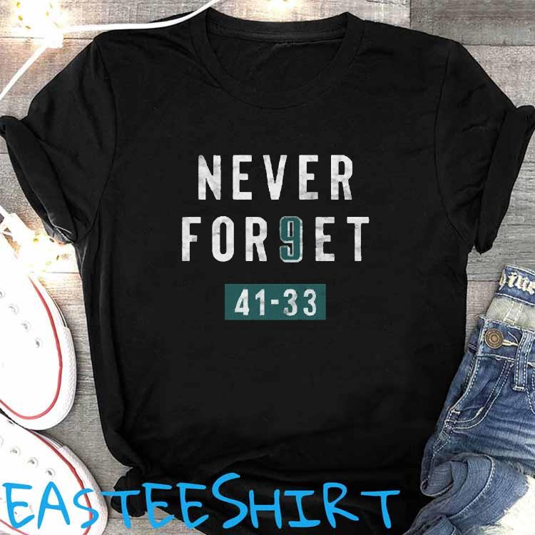 Clearwooder Never Forget Nick Foles 9 Philadelphia Shirt Women's Shirt