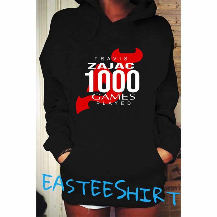 Travis Zajac 1000 Game Played Shirt Hoodie