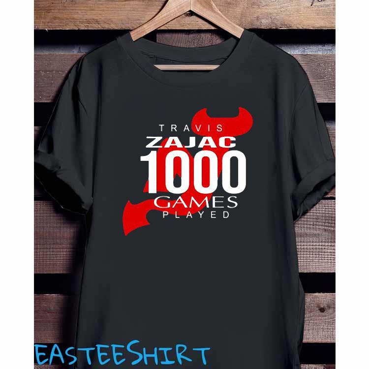 Travis Zajac 1000 Game Played Shirt