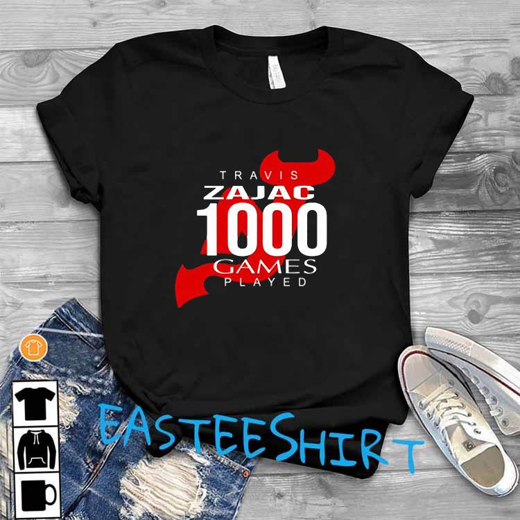 Travis Zajac 1000 Game Played Shirt T-Shirt