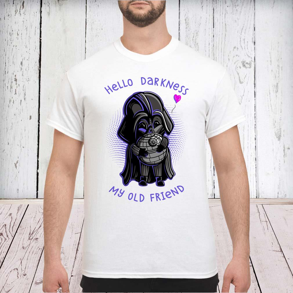 Darth vader hello darkness my old friend shirt