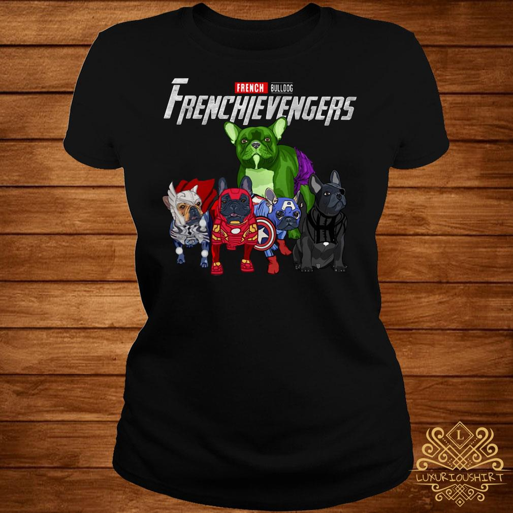 Frenchievengers French Bulldog ladies tee