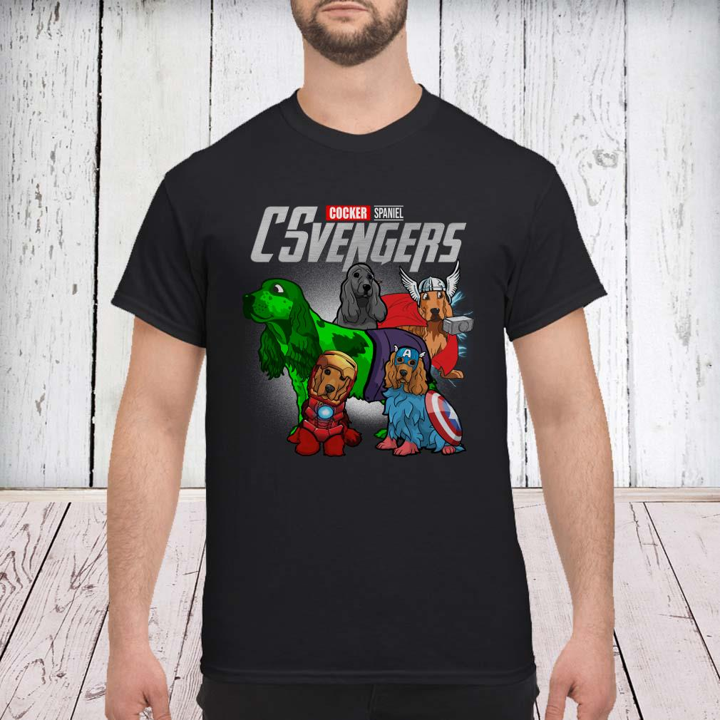 Marvel Avengers Cocker Spaniel CSvengers shirt