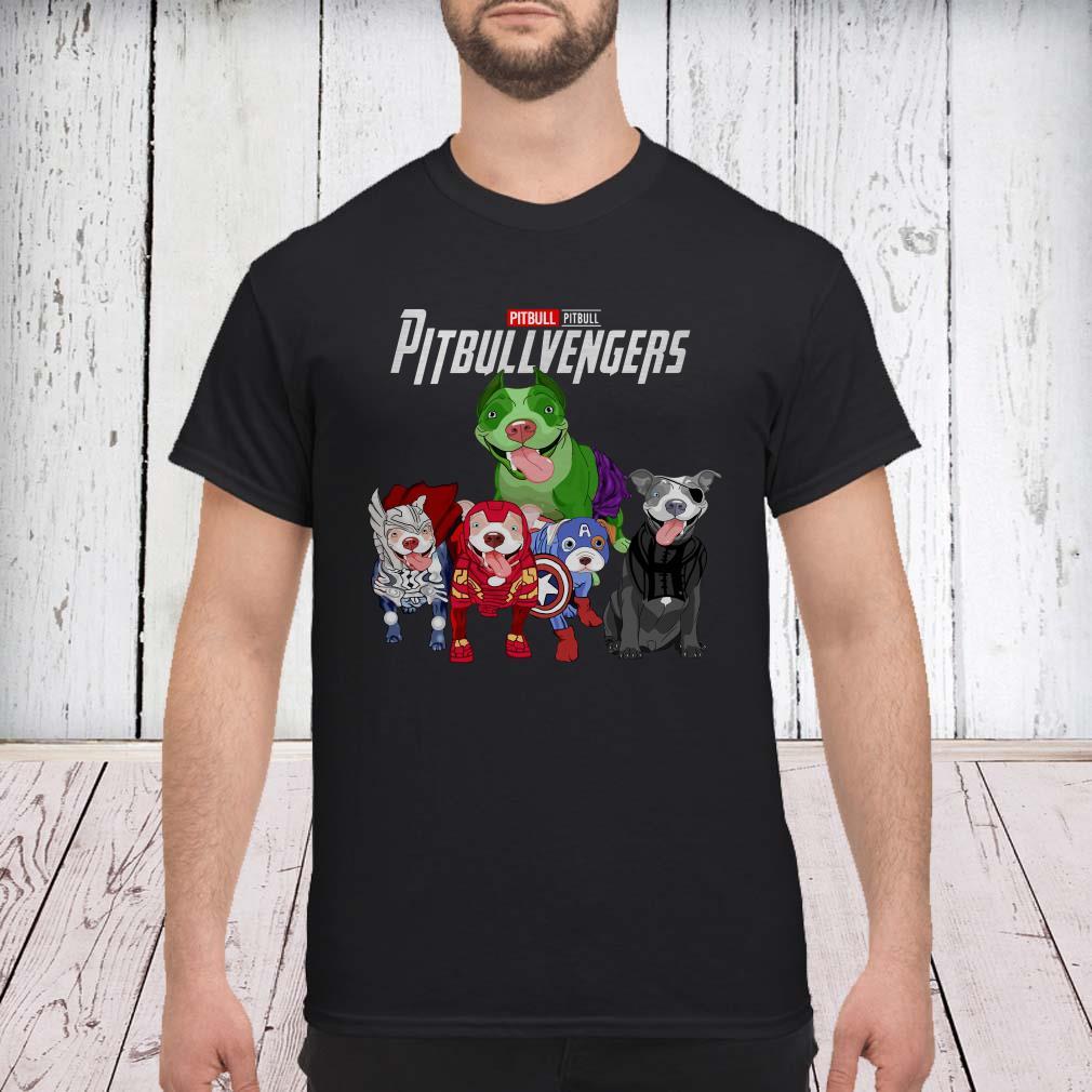 Pitbullvengers Dogs Marvel Avengers shirt