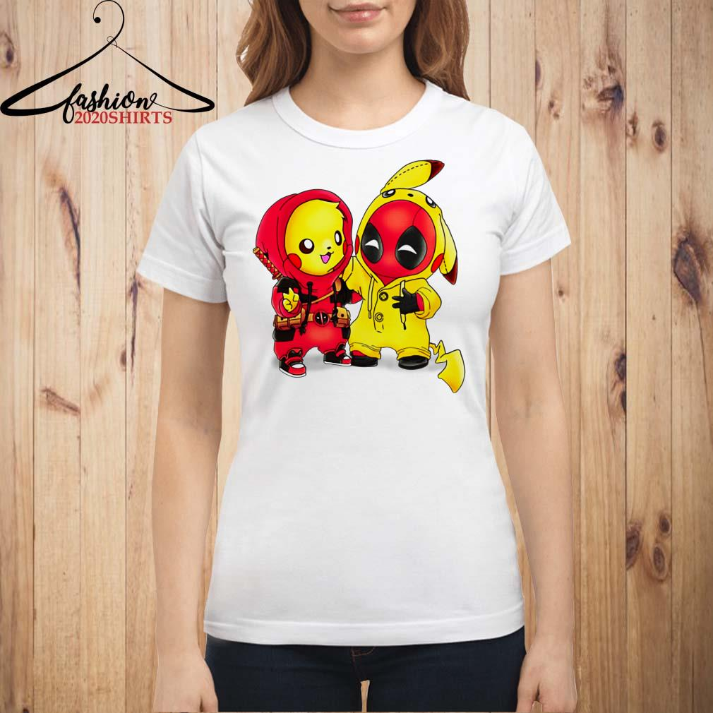 47386353 Baby Pikapool Pikachu Deadpool Mashup Detective Pikachu shirt ...