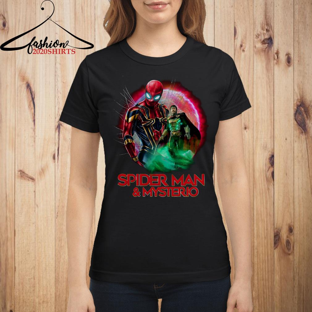 5e4608f61 Spider Man far from home Spiderman and Mysterio shirt, sweater ...
