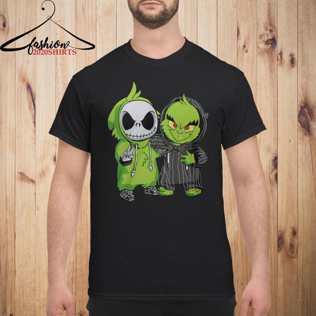 Baby Jack Skellington and Grinch Men shirt