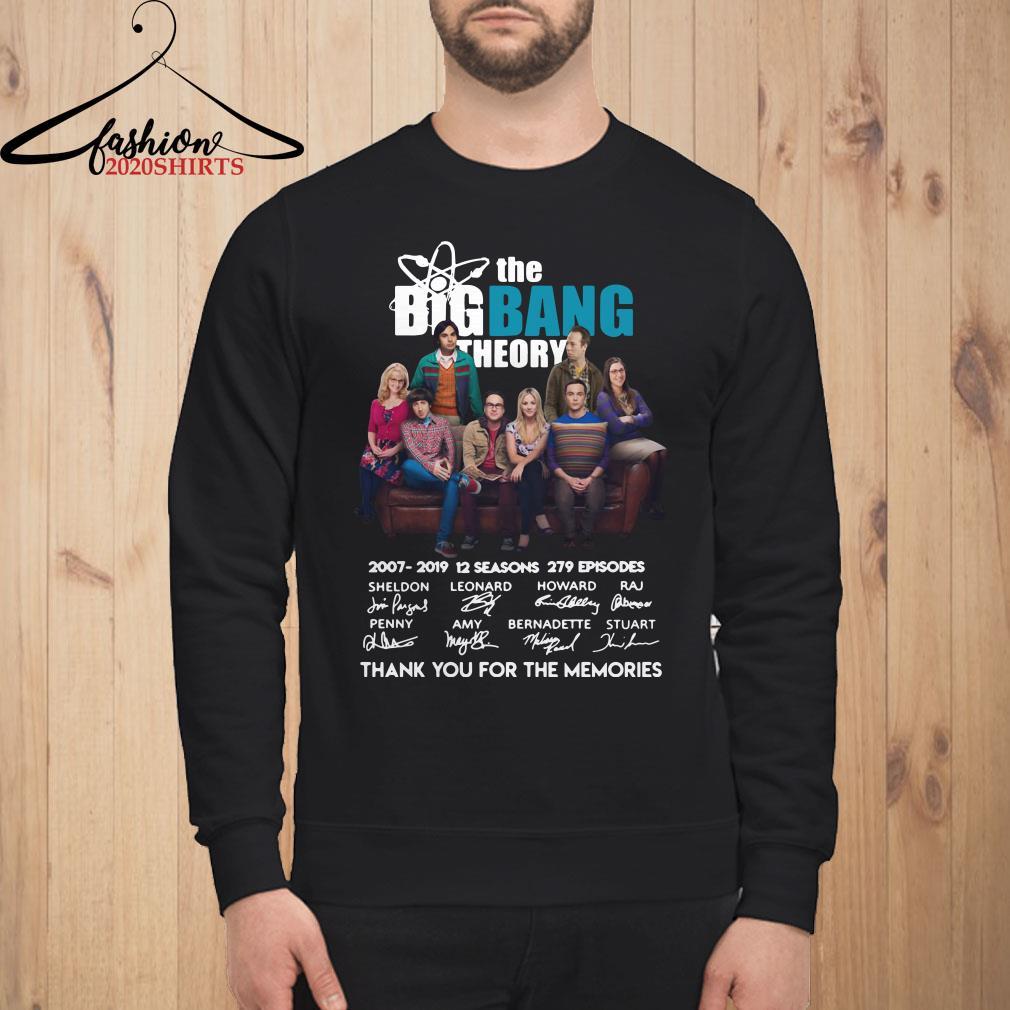 The Bigbang Theory 2007-2019 12 seasons 279 episodes thank you for the memories sweatshirt