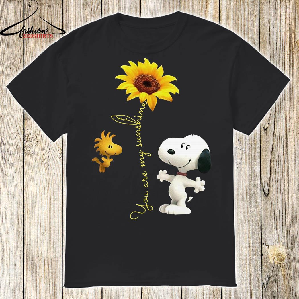 71dc2c143aac Snoopy and Woodstock you are my sunshine sunflower shirt