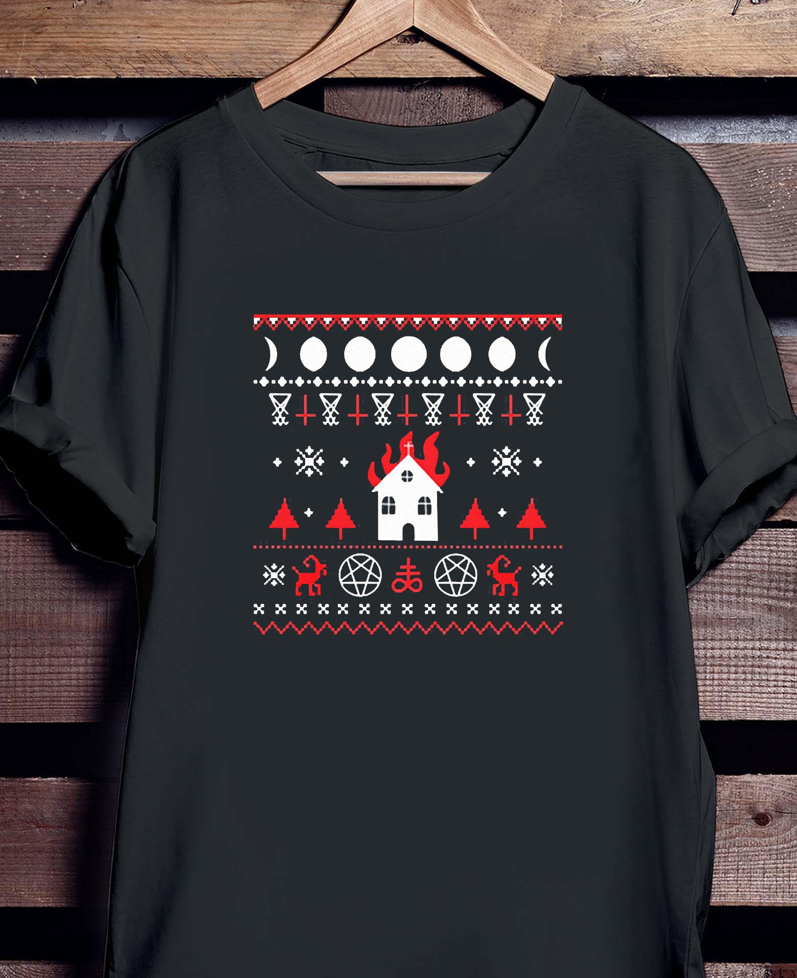 Burning Church Ugly Christmas 2020 Shirt