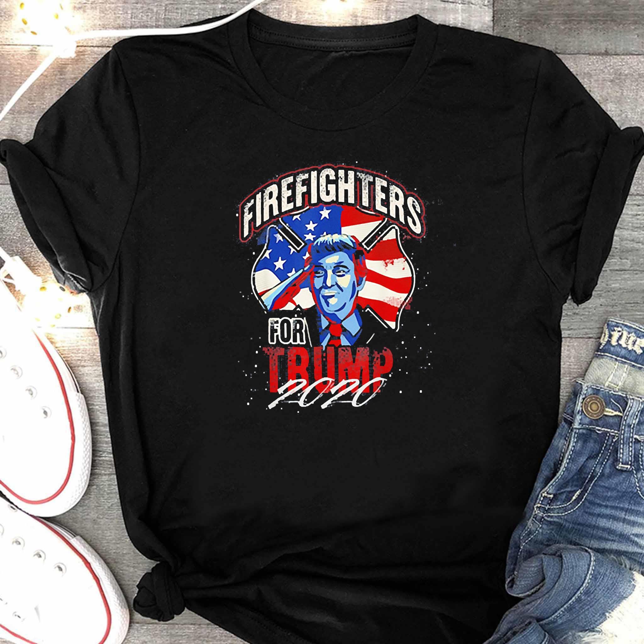 Firefighters For Trump 2020 Fire Fighter Shirt Women's Shirt