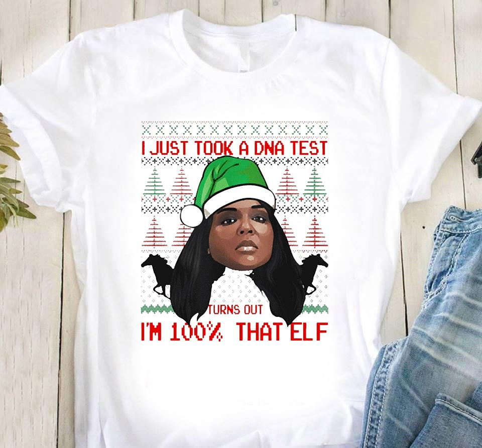 Lizzo 100 Percent That Elf Christmas Shirt Classic T-Shirt