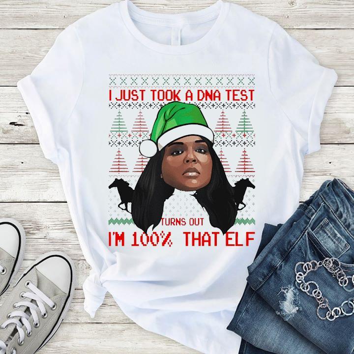 Lizzo 100 Percent That Elf Christmas Shirt T-Shirt