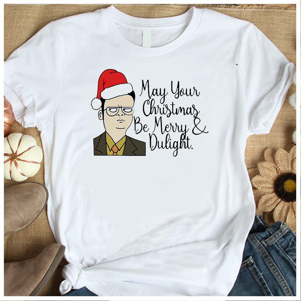 May Your Christmas Be Merry And Dwight Shirt Women's Shirt