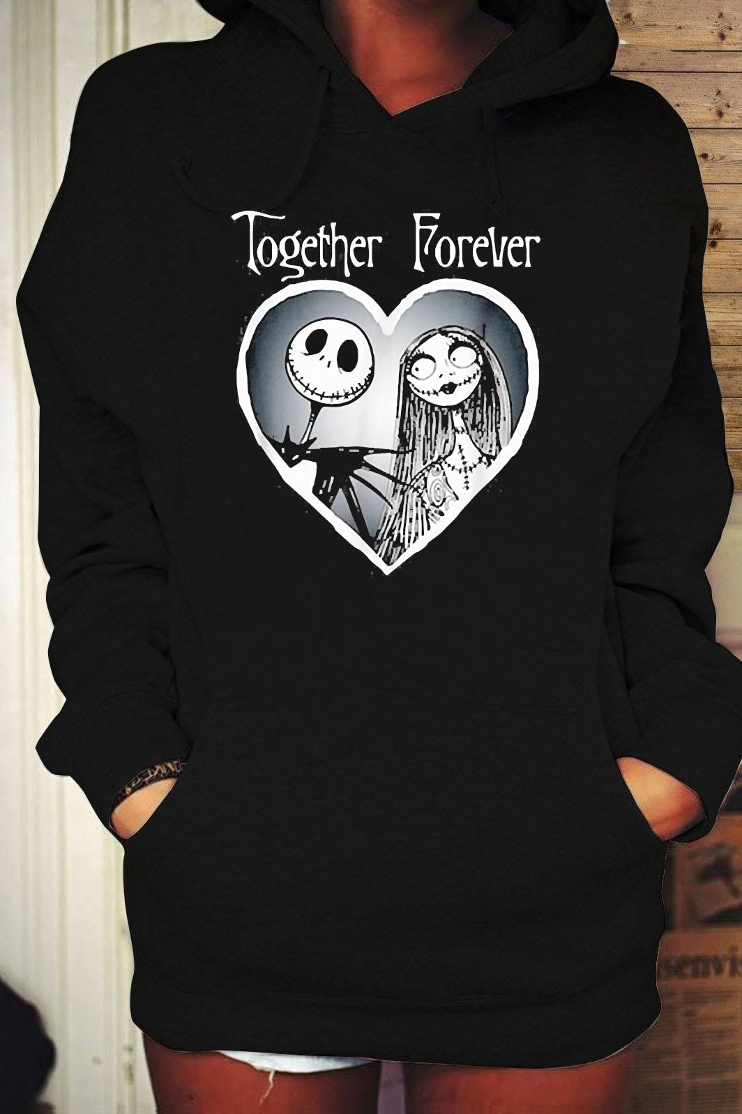 Nightmare Before Christmas Together Shirt Hoodie