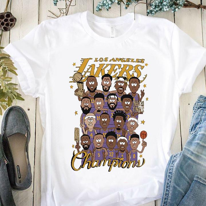 Team Los Angeles Lakers Nike 2020 NBA Finals Champions Celebration Roster Shirt
