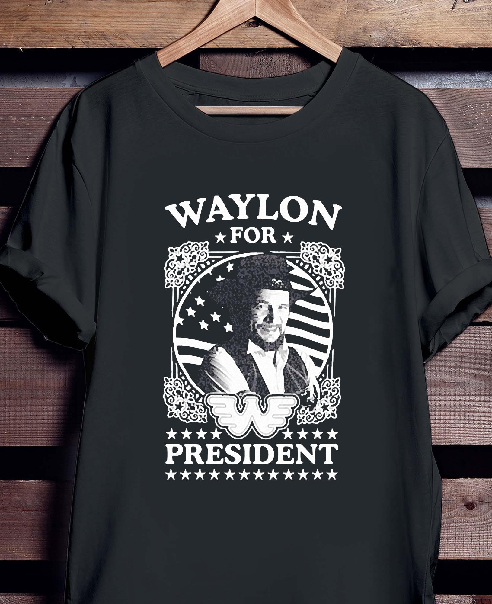 Waylon For President Us Flag Shirt