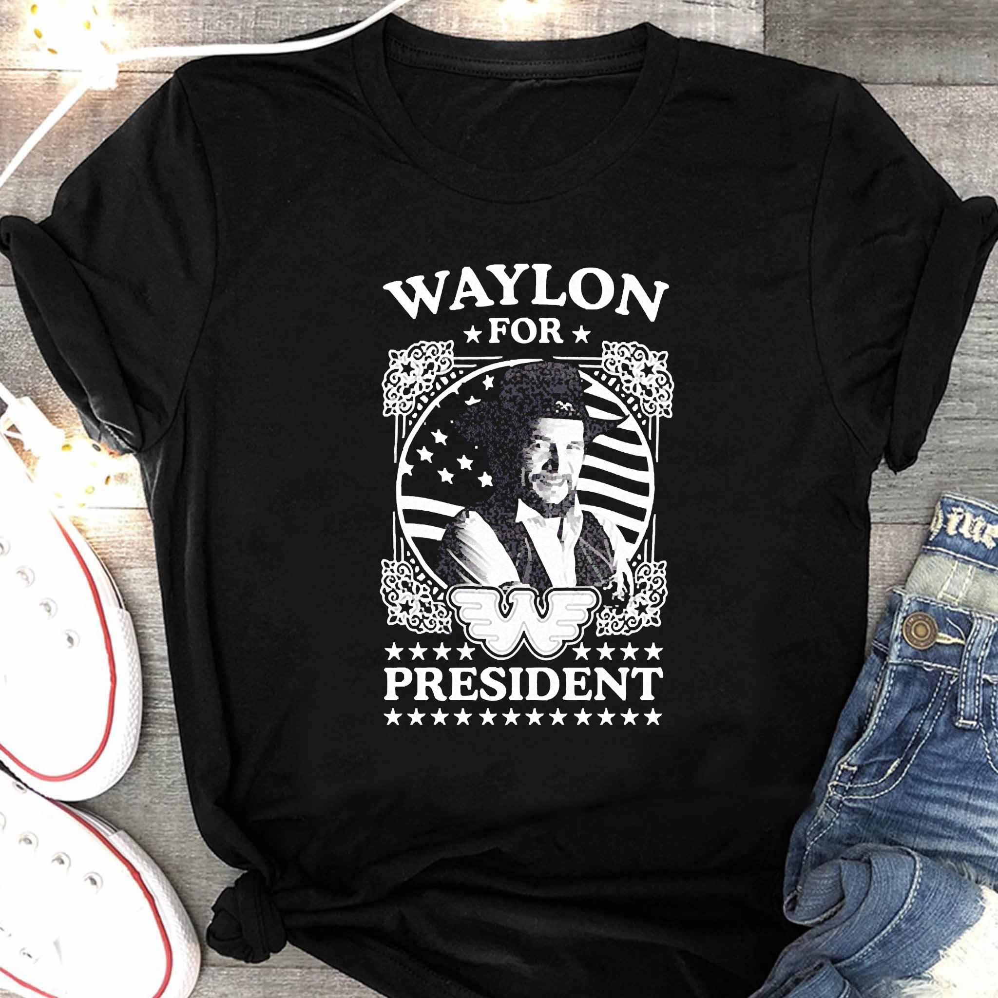 Waylon For President Us Flag Shirt Women's Shirt