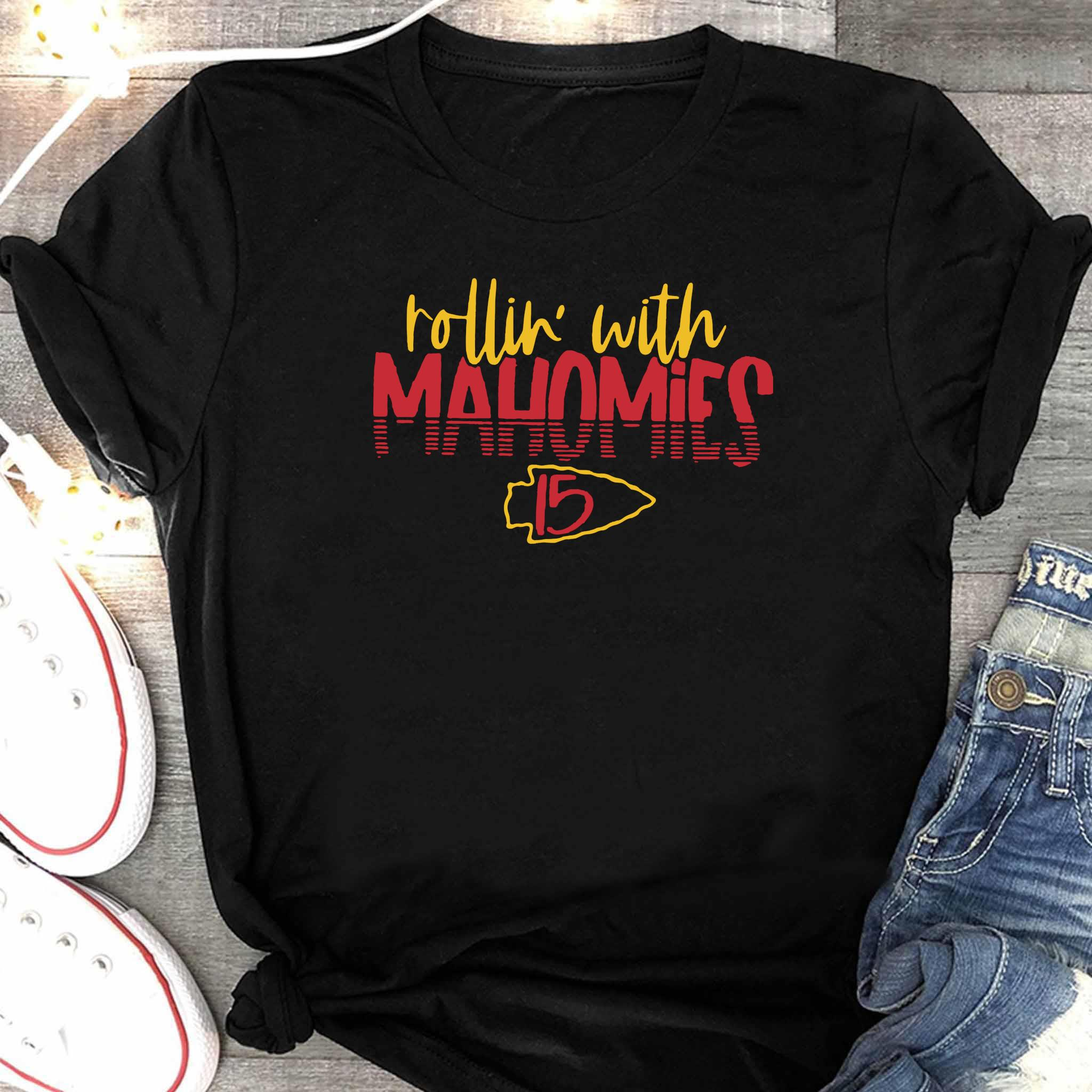 Rollin' With Mahomies Kansas City Chiefs Shirt Women's Shirt
