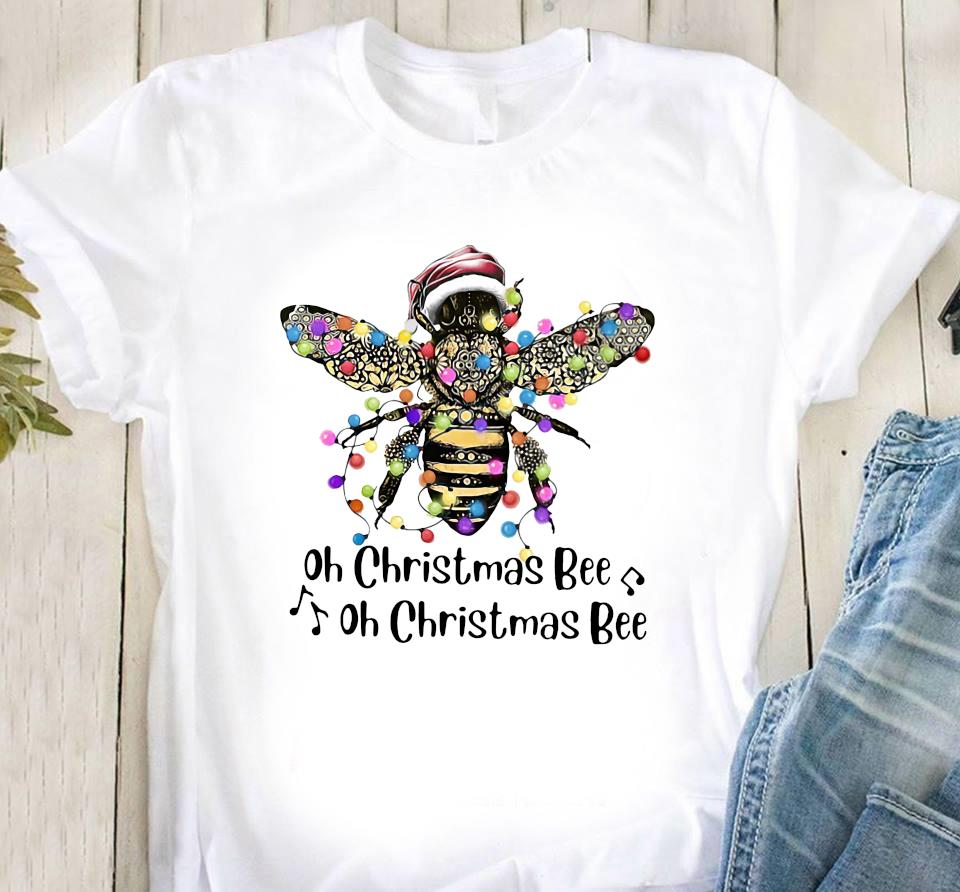 Santa Bee Oh Christmas Bee Oh Christmas Bee Shirt Classic T-Shirt