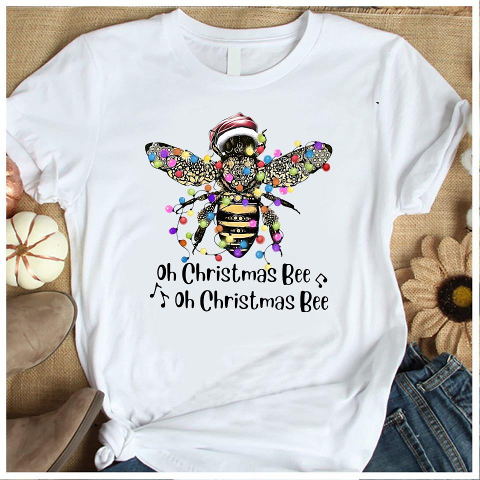 Santa Bee Oh Christmas Bee Oh Christmas Bee Shirt Women's Shirt