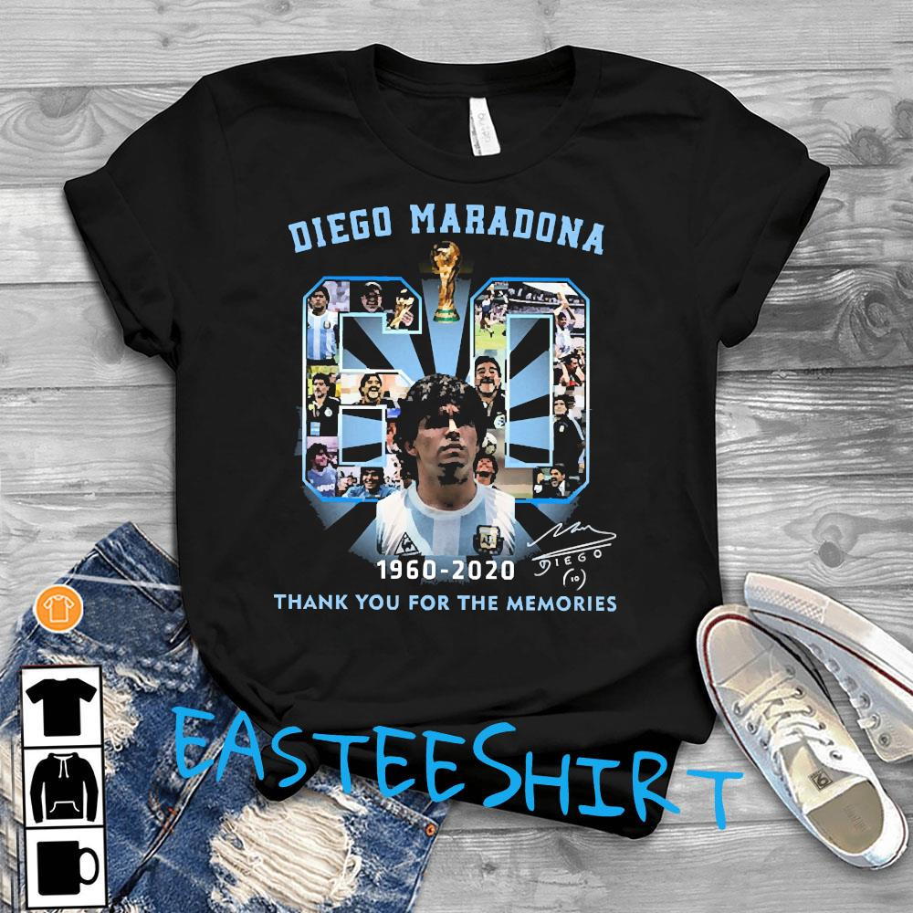 Diego Maradona 60 Years 1960 2020 Thank You For The Memories Shirt T-Shirt