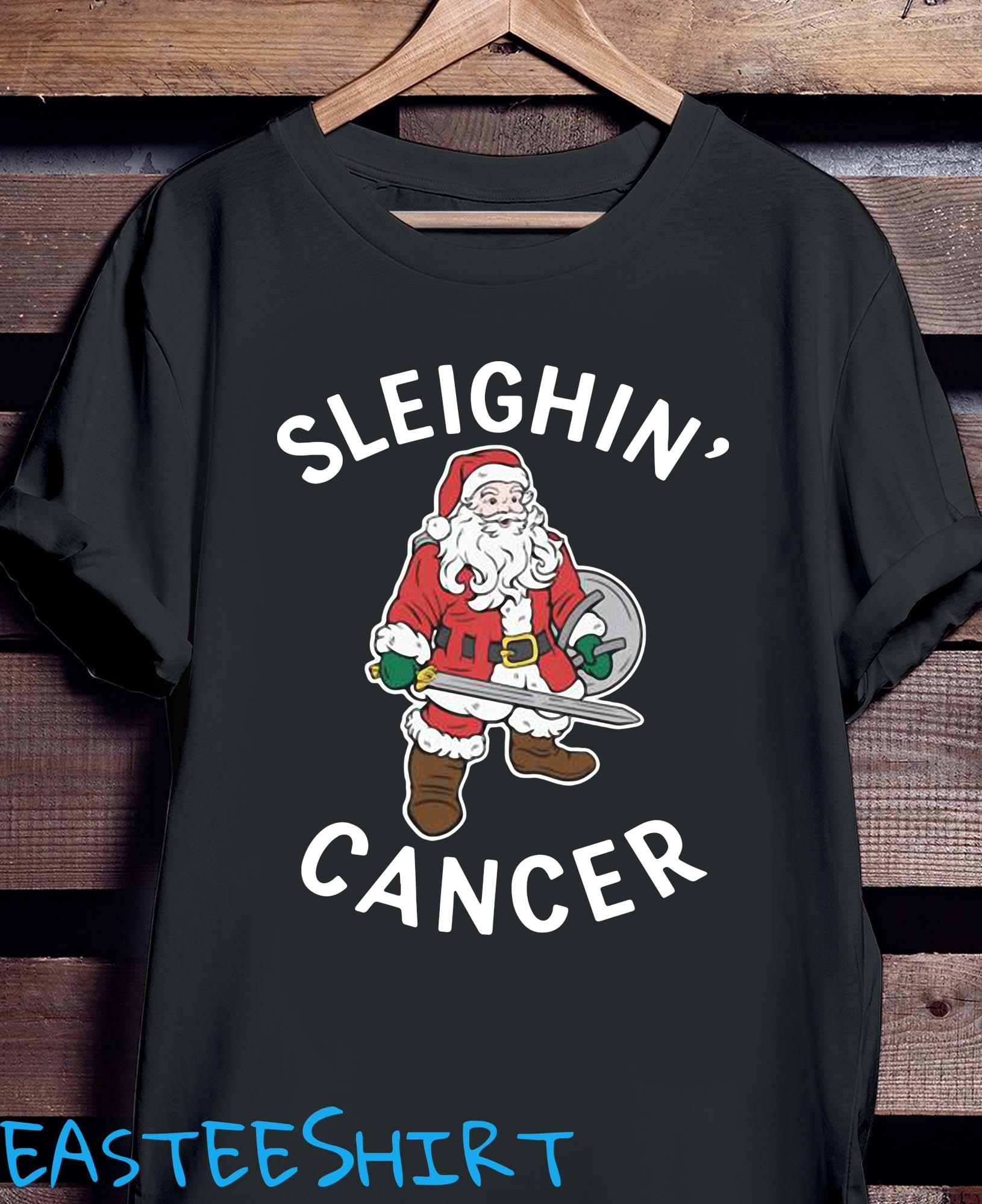 Santa Claus Sleighin' Cancer Shirt